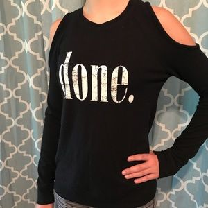 Cold shoulder long sleeve shirt